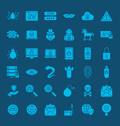 hacker solid web icons vector image