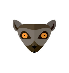 lemur head icon in flat design vector image