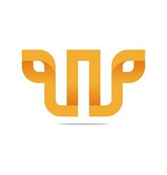 Logo Letter Infinity Alphabet Lettering W Design vector image