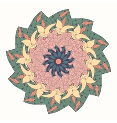 Mandala with floral abstract pattern vector