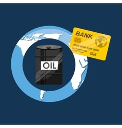 Oil and petroleum industry economic world money vector