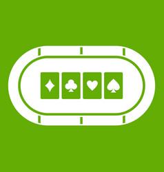 poker table icon green vector image