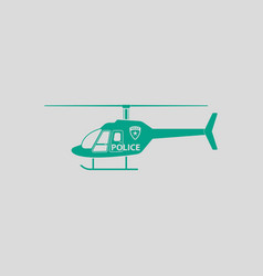 Police helicopter icon vector