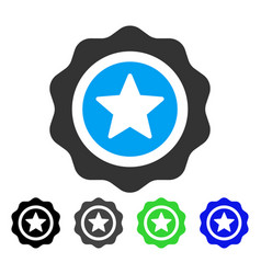 Reward seal flat icon vector
