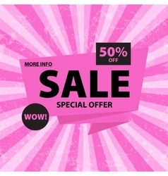 Sale pink banner vector image vector image
