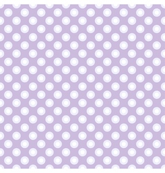 Seamless polka dot pattern in retro style vector image