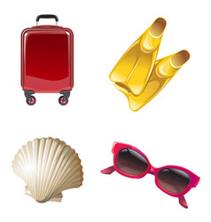 Set icons on the theme of travel vector