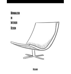 soft chair with backrest in a contour on a white vector image vector image