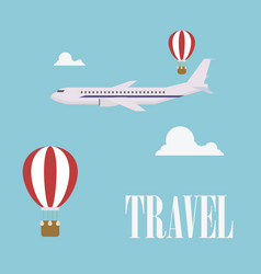 Travel concept flat design plane vector