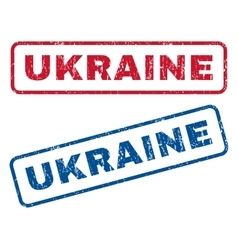 Ukraine rubber stamps vector