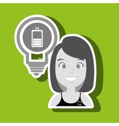 woman and environment isolated icon design vector image