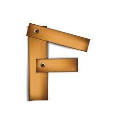 wooden type f vector image vector image