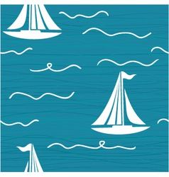 Yacht Pattern vector image vector image