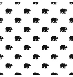 Bear pattern simple style vector