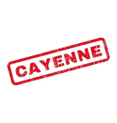 Cayenne rubber stamp vector