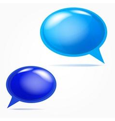 Plastic bubbles for speech vector image