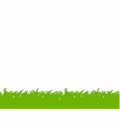green grass border isolated on white background vector image