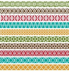 Moroccan border patterns vector