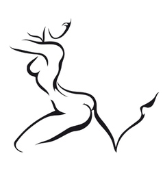 Dancing woman vector
