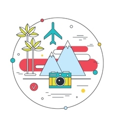 Travel to exotic places explore the world tourism vector