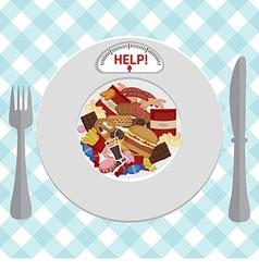 Unhealthy foods concept vector
