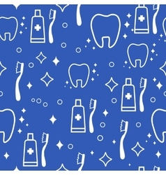 dental seamless pattern white teeth on vector image