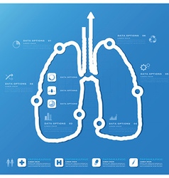 Lung shape business and medical infographic design vector