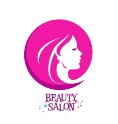 beautiful woman female logo design vector image