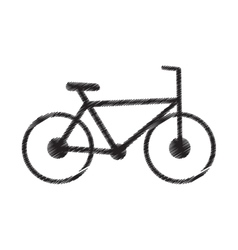 Bicycle transport sport recreational pictogram vector