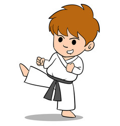 character of kid sport art vector image