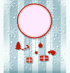 Christmas card with big space for your advertisi vector image vector image