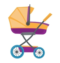 Colourful baby carriage vector