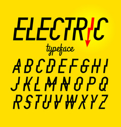 electric style typeface vector image