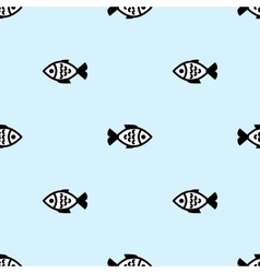 Fish seamless background vector image vector image