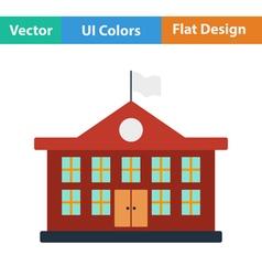 Flat design icon of School building vector image vector image