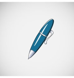 Isolated ballpoint pen on light background vector image