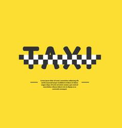 Logo for a taxi company vector