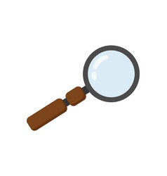 magnifying glass icon in flat design vector image vector image