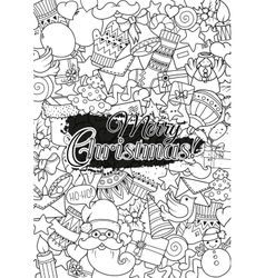 Merry christmas set of xmas monochrome pattern and vector