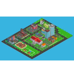 Modern city isometric map vector