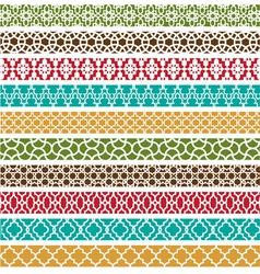 Moroccan border patterns vector image vector image