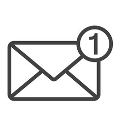 New message line icon email and website vector