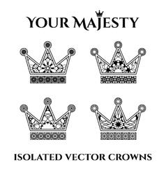 Ornamental Crowns vector image vector image