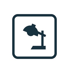 reading-lamp icon Rounded squares button vector image vector image