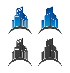 Real estate building logo icons vector