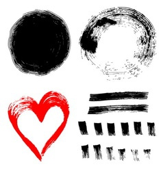 Set of ink paint frames vector image vector image
