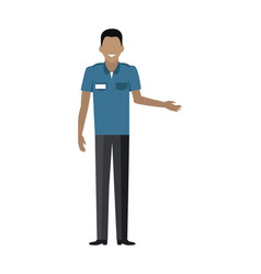 Shop worker man character vector