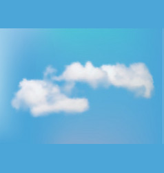 sky with a cloud vector image