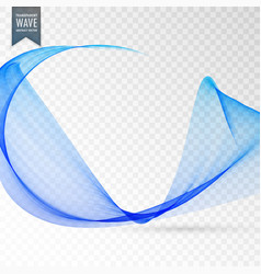 Transparent wave effect in blue color vector