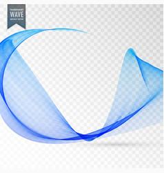 Transparent wave effect in blue color vector